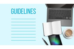 Guidelines Notepad Page Template With Text Space Product Image 1