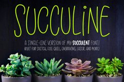 SuccuLine - single-line hairline version of Succulent font! Product Image 1