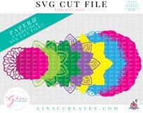 3D Layered LOVE, HOPE, FAITH Mandala SVG Cut File Product Image 4