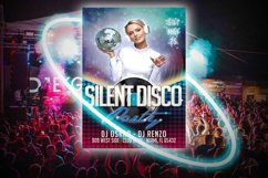 SILENT DISCO PARTY FLYER|Summer Festival Flyer | Template Product Image 3