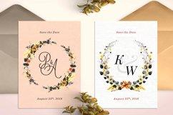 6 Golden Noir Wedding Monograms IX Product Image 3