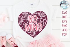 Be Mine Mandala Heart | Valentine Heart Mandala SVG Product Image 1