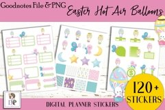 Easter Hot Air Balloon Digital Printable Stickers Goodnotes Product Image 3