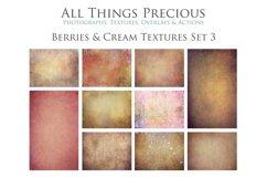 10 Fine Art BERRIES & CREAM Textures SET 3 Product Image 1