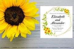 Sunflower Wedding Invitation Product Image 4