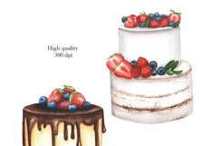 Watercolor cakes set Product Image 4