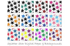 Stars Pattern Digital Papers - Multi-Color Star Backgrounds Product Image 2