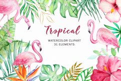 Tropical Watercolor Clipart Set Product Image 1