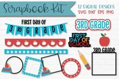 3rd Grade First Day of School Scrapbook Kit Product Image 1