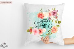 Hello Spring PNG Sublimation Design Product Image 1