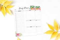 Floral Daily Planner Printable Product Image 2