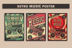Retro Music Tape Recorder Radio Vintage Signage Poster Product Image 2