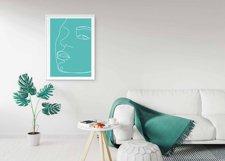 Faces Single Line,Printable Line Art,Printable Wall Art Product Image 2