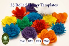 25 Rolled flowers svg, cutfiles, paper craft templates Product Image 10