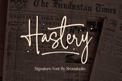 Hastery - Signature Font Product Image 1