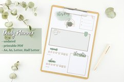 Daily Planner printable PDF - Daily spread - Undated planner Product Image 1