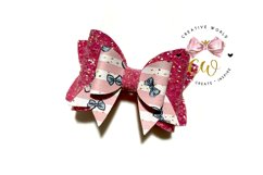 New 2021 Hair Bow Digital Template | Bow Template |CWC169 Product Image 2