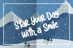 Blue snow | Funny Typeface Product Image 2