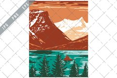 Saint Mary Lake in Glacier National Park in Montana WPA Product Image 1
