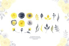 Watercolor yellow & gray roses Product Image 2