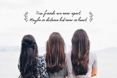 Friends Forever Font & Floral Extras Product Image 2