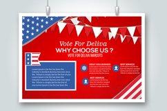 4 Horizontal Election Voting Flyers Bundle Product Image 4