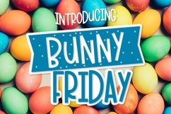 Web Font Bunny Friday - A Fun Smooth Font Trio Product Image 1