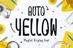 Web Font Auto Yellow Font Product Image 1