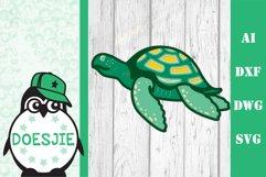 Layered Sea turtle multi layer mandala sea nautical 3d svg Product Image 3