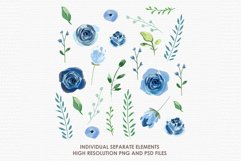 Bluebell - Digital Watercolor Floral Flower Style Clipart Product Image 2