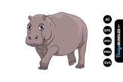 Hippopotamus Clipart Product Image 1