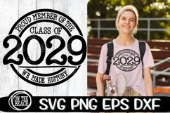 2029 SVG - Proud Member Class 2029- History -SVG PNG EPS DXF Product Image 1