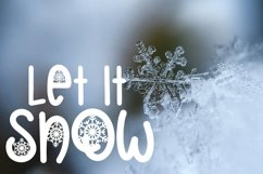 Web Font Christmas Snowflakes Font Product Image 2