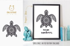 Turtle Mandala Svg Cut File, Turtle Svg, SeaTattoo Design Product Image 6