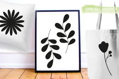 Flower silhouettes Graphics and illustrations, vecto Product Image 5