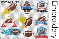 American Football - Embroidery Files - 1469e Product Image 2