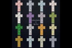 32 Diamond Pearl Rhinestone Christian cross religious Easter Product Image 4