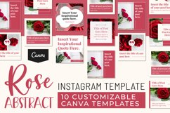 Rose Abstract Instagram Canva Template Product Image 3