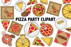 Pizza Party Clipart Product Image 2