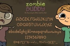 Zombie Buddy  An Apocalyptic Alternate Duo Font Product Image 2