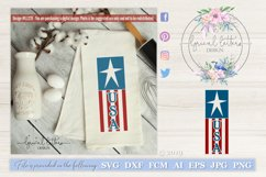USA Vertical Design with Star and Stripes SVG DXF LL127E Product Image 1