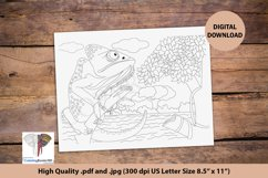 The Veiled Chameleon Sitting on Branch Coloring Page Product Image 1