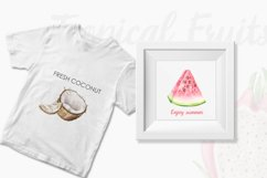 Watercolor Tropical Fruit Clipart. Food illustration Product Image 3