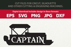 Pontoon Boat Captain and First Mate SVG Cutting File Bundle Product Image 2