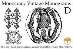 Monocracy Vintage Monograms D Product Image 2