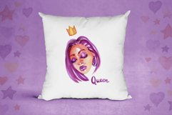 Watercolor fashion afro girls Product Image 3