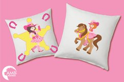 Cowgirl clipart, graphics, illustrations AMB-159 Product Image 3