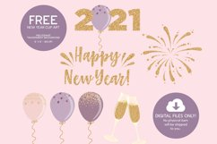 2021 New Year Digital Paper and Clip Art Product Image 2