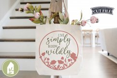 Spring Sign SVG, Live Simply Bloom Wildly SVG, Round Sign Product Image 3