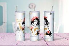 Travel girls in Paris tumbler sublimation design Png Product Image 3